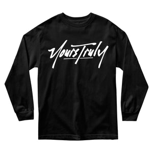 MEN'S LONG SLEEVE TEE - YOURS TRULY LOGO LONG SLEEVE - BLACK