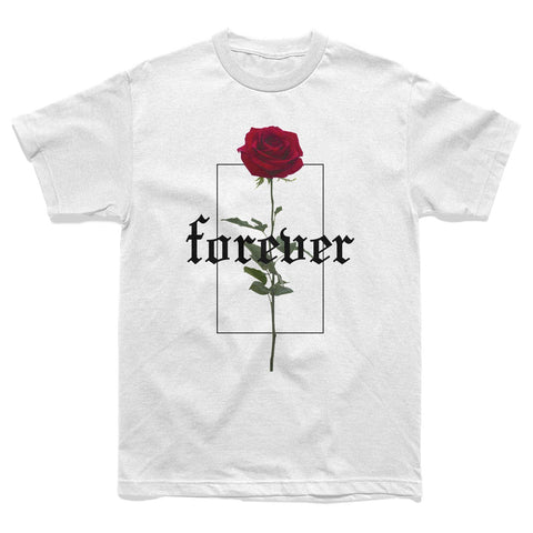 SHIRT - FOREVER ROSE TEE - WHITE