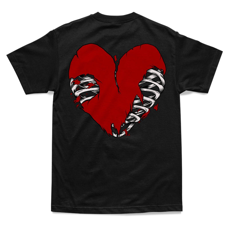 SHIRT - HEART OF A SINNER TEE - BLACK