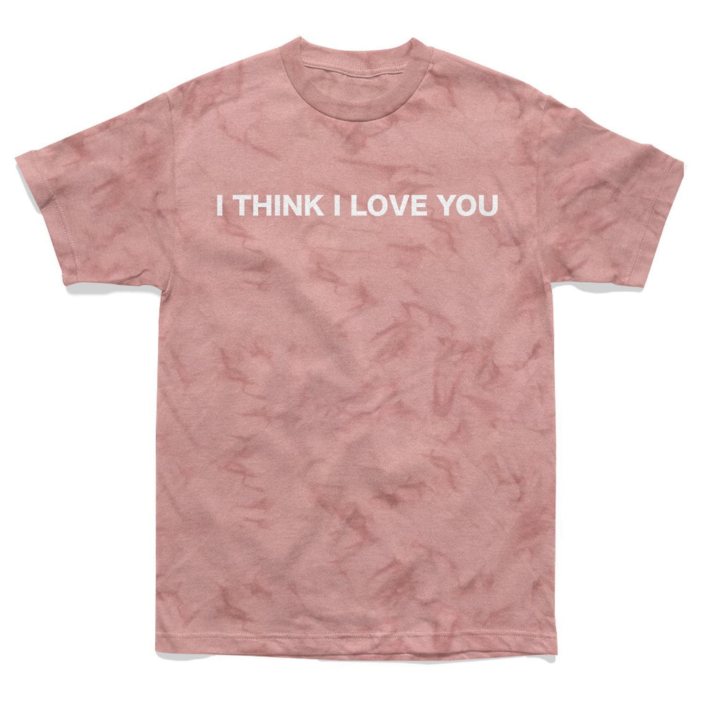 SHIRT - I THINK I LOVE YOU TIE DYE TEE - PINK