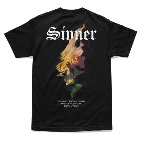 SHIRT - PAIN OF A SINNER TEE - BLACK