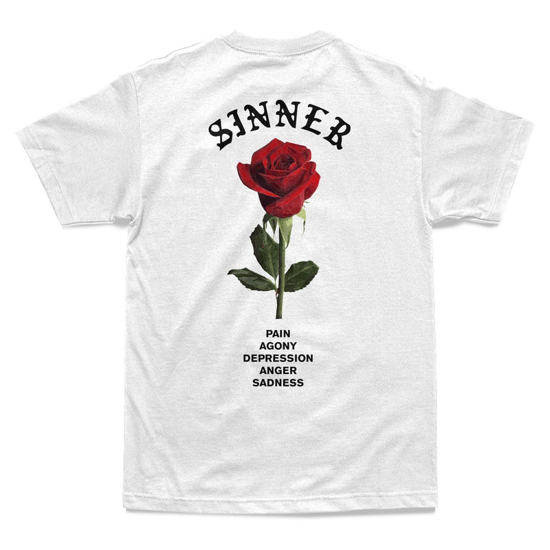 SHIRT - SIGNS OF A SINNER TEE - WHITE