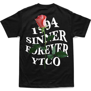 SHIRT - SINNER FOREVER TEE - BLACK
