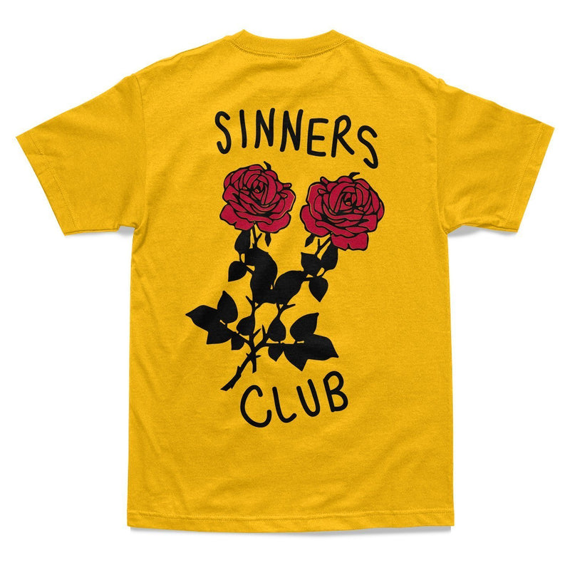 SHIRT - SINNERS CLUB TEE - YELLOW