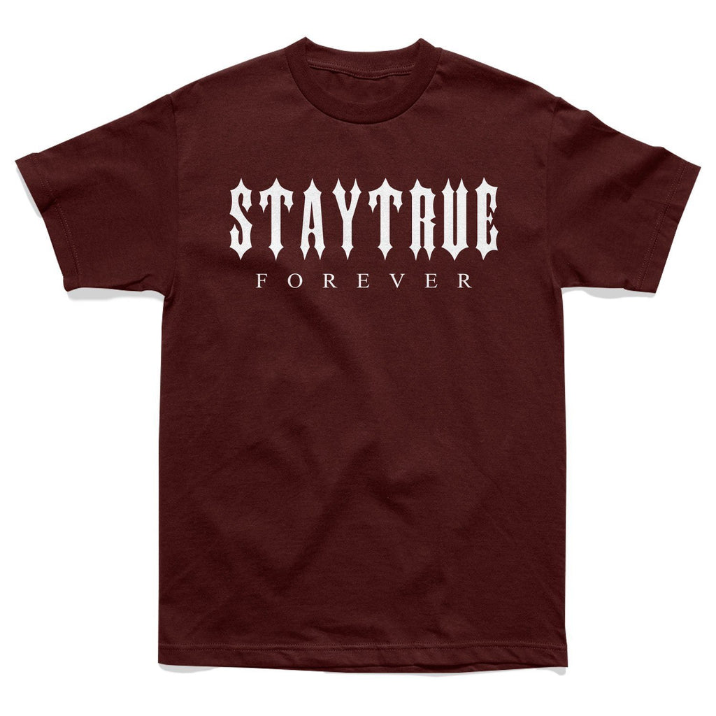 SHIRT - STAY TRUE FOREVER TEE - BURGUNDY