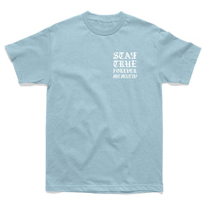 SHIRT - STAY TRUE ROSES MCMXCIV TEE - LIGHT BLUE