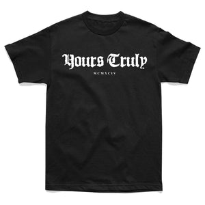 SHIRT - YOURS TRULY FOREVER SKULL ROSE TEE - BLACK