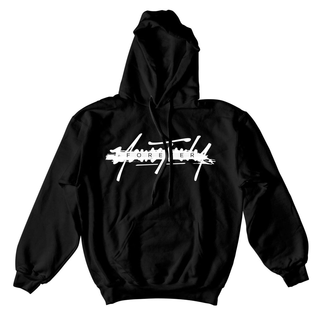 SHIRT - YOURS TRULY FOREVER SLASH HOODIE - BLACK