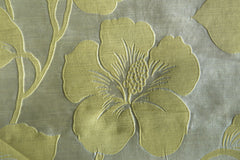 Custom Drapery - Gray Faux Silk Damask