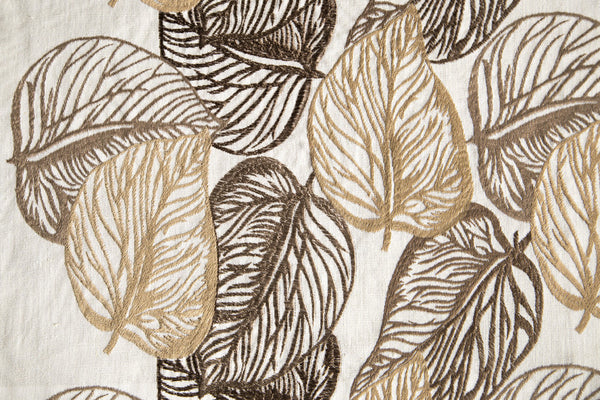 Custom Drapery - Embroidered Autumn Leaves