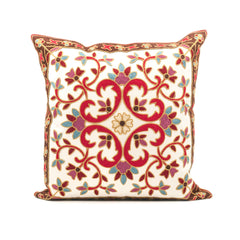 Kashmir Embroidered Throw Pillow Cover