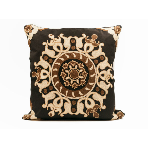 Medallion Embroidered Throw Pillow Cover