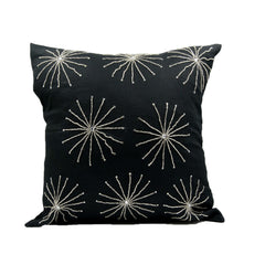 Black Crystal Stars Throw Pillow Cover