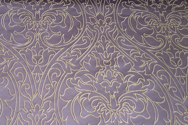 Custom Drapery - Royal Embroidered Purple