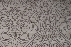 Drapery Fabric Swatch - Royal Embroidered Gray