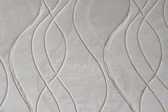 Custom Drapery - Ivory Embroidered Waves