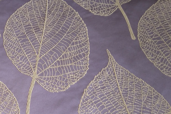 Custom Drapery - Purple Embroidered Botanica