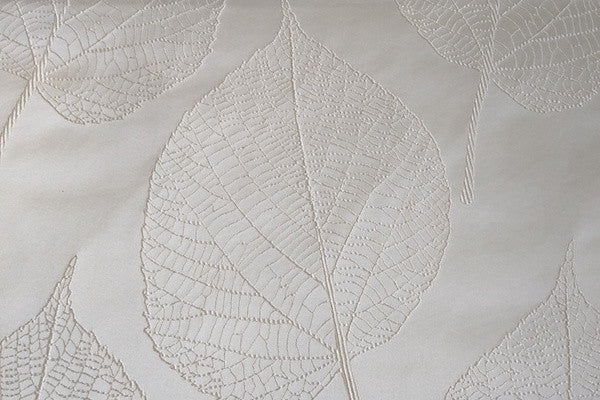 Custom Drapery - Ivory Embroidered Botanica