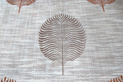 Custom Drapery - Textured Large Leaf Rust