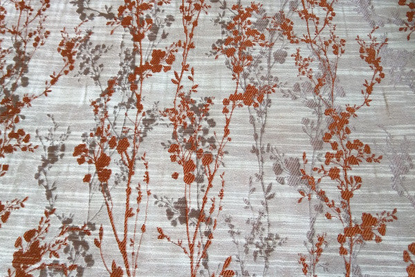 Custom Drapery - Textured Wild Rust