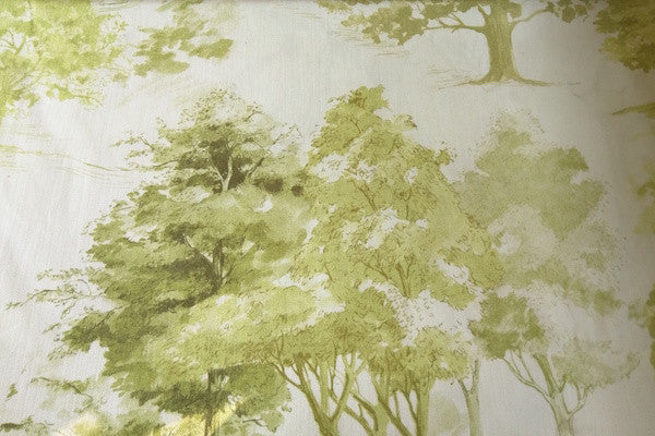 Custom Drapery - Woodland Green Toile Print