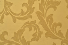Drapery Fabric Swatch - Yellow Damask