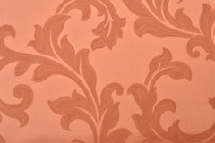 Drapery Fabric Swatch - Peach Damask