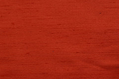 Custom Drapery - Textured Silk Red