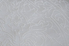 Custom Drapery - Royal Embroidered Ivory