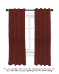 Custom Drapery - Merlot Red