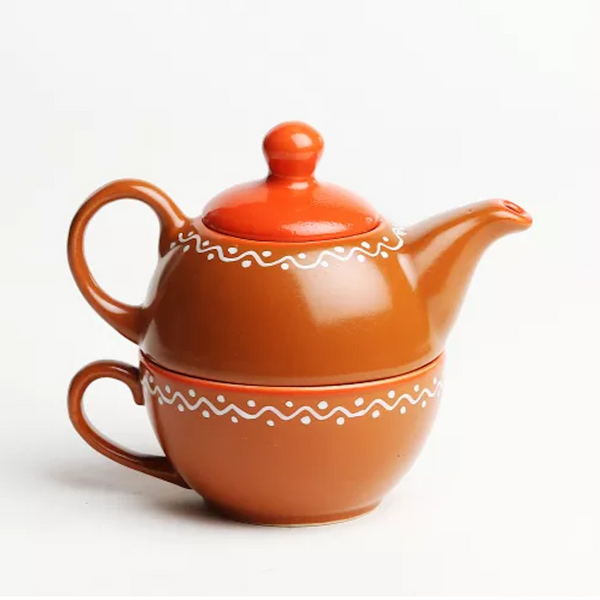 Handmade Terracotta One Cup Kettle