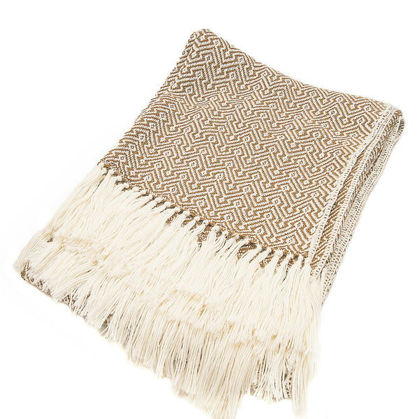 Peruvian Alpaca Blend Throw Blanket - Sand Dunes
