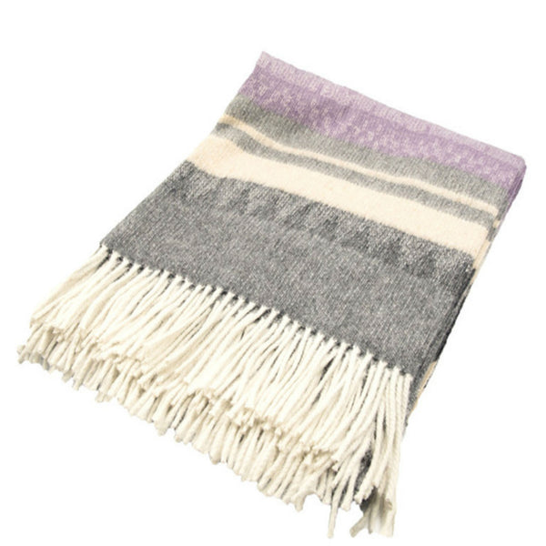 Peruvian Alpaca Throw Blanket - Lilac