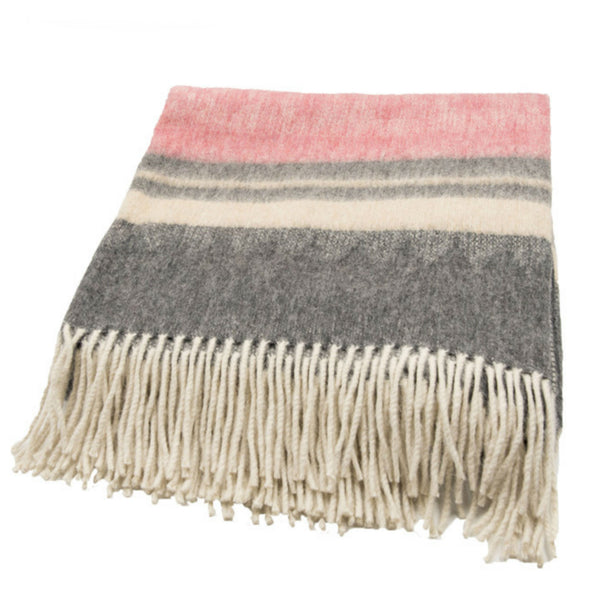 Peruvian Alpaca Throw Blanket - Wild Rose