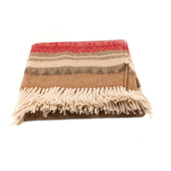 Peruvian Alpaca Throw Blanket - Earthy Wonder