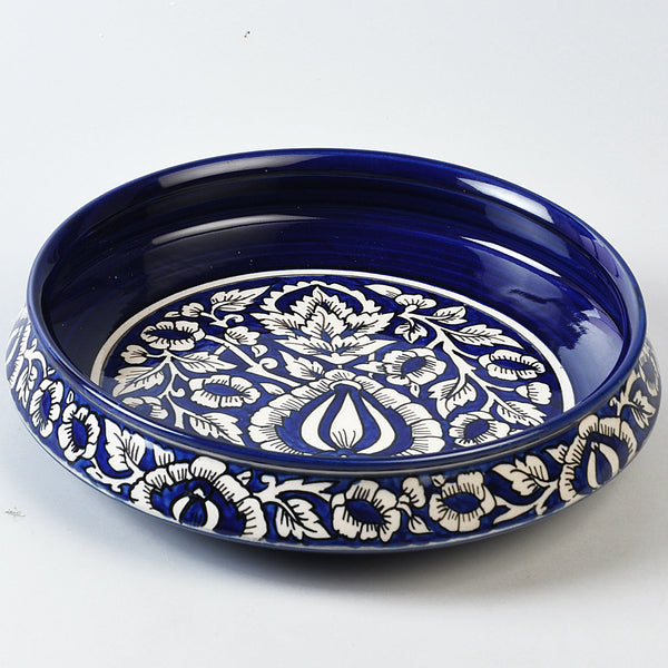 Hand-painted Blue and White Serving Bowl