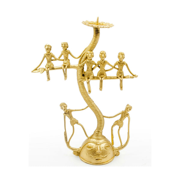 Ethnic Dhokra Art Candle Stand - Tree of Light