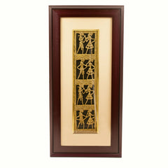 Dhokra Brass Framed Art