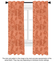Custom Drapery - Peach Damask