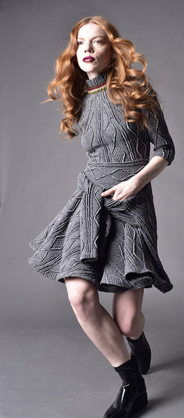 Short Military Blanket Dress - Irina Simeonova