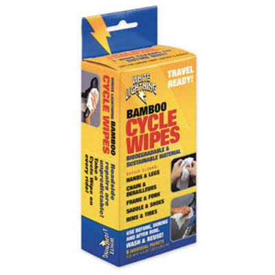White Lightning Bamboo Cycle Wipes