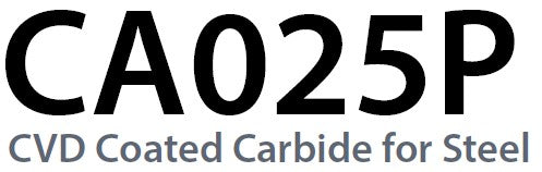 CA025P - CVD Coated Carbide for Steel