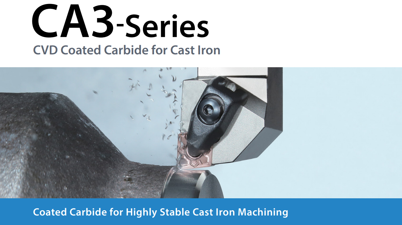 CA3-Series CVD Coated Carbide for Cast Iron