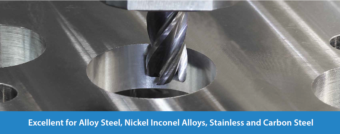 Excellent for Alloy Steel, Nickel Inconel Alloys, Stainless and Carbon Steel
