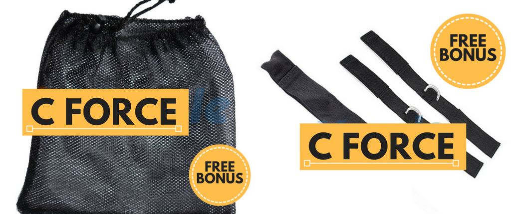 CForce Nylon Carrying Bag + Ankle Straps + Door Jam Replacement Pack