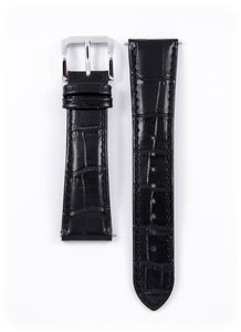 Genuine Black Leather Strap 22mm