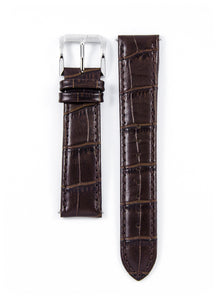 Genuine Brown Leather Strap 22mm