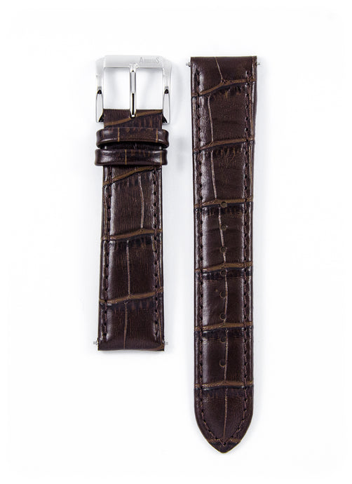 Genuine Brown Leather Strap 20mm