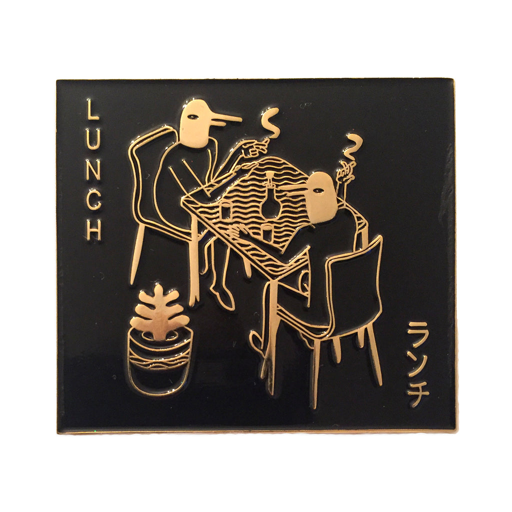 Gold Lunch pin