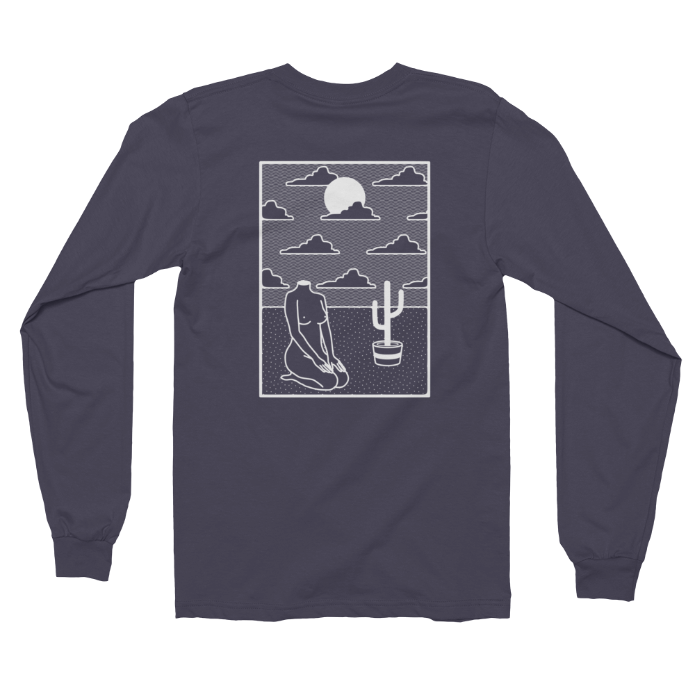 Relax Long Sleeve T-Shirt (white print)